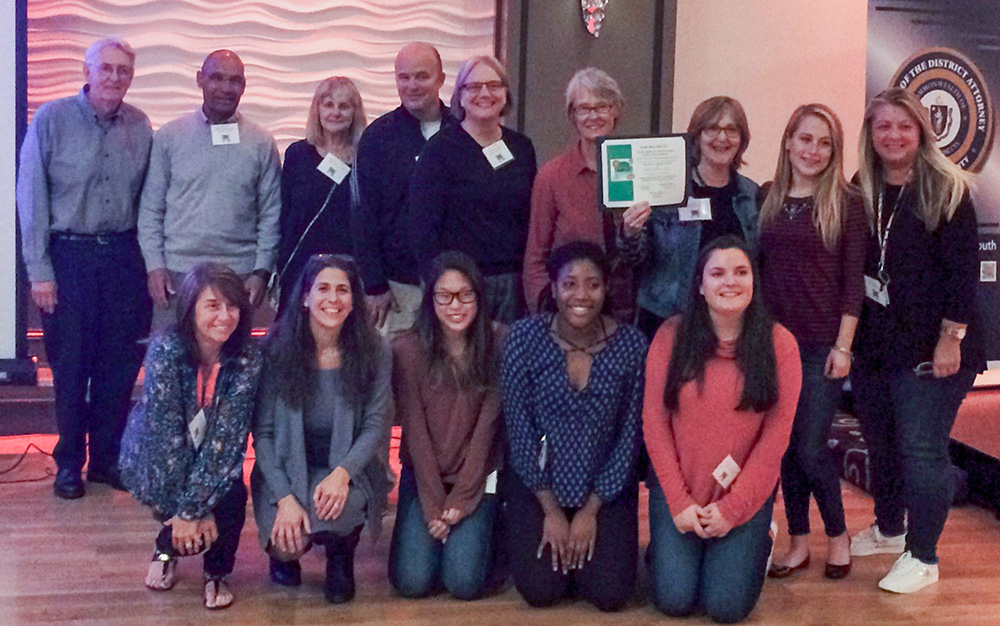 The Milton Substance Abuse Prevention Coalition was bestowed a Community Hero Award on September 28, 2016 at the South Shore Hospital's annual Youth Substance Use Conference. The award acknowledged our efforts to build awareness and action to address youth alcohol and drug use in our town. Over 300 people were in attendance, many from Milton, including students from MHS's SADD group with their advisors Karen Hughes and Robin Lee.