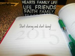 Stop staring start doing