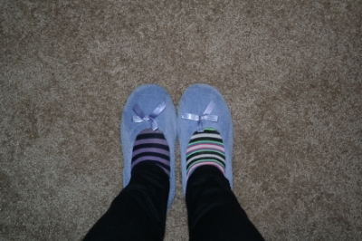 Comfort is super important. But don't get too comfortable. You're not trying to go to sleep. Random fact: I gave up on matching socks years ago. Best decision I ever made.