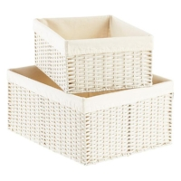 Wicker basket organizer