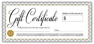 professional organizing gift certificate