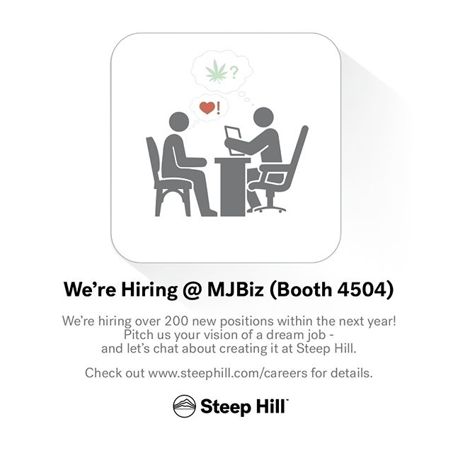 How would you describe your dream job in the #cannabis industry? Visit us at booth 4504 during #MJBizCon next week and let's talk about it!  #mmj #cannabiz #mjbiz #mjbizconference #arcview #business #stoners #science #jobs #career #work #chemistry #genetics #botany #research #steephill #lasvegas