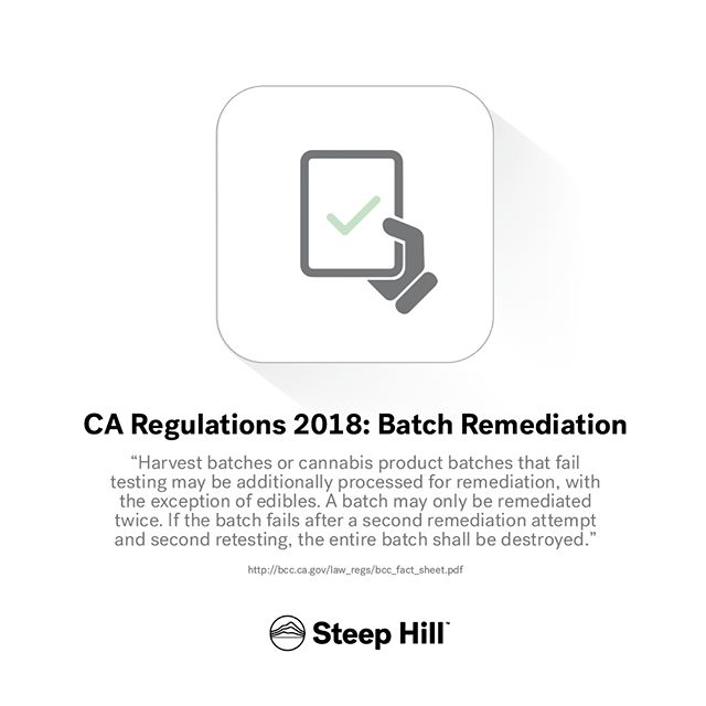 What are your thoughts regarding batch remediation?  #mmj #weed #marijuana #cannabis #regulation #THC #medicine #science #steephilllab #weedfeed #medicalcannabis #cannabiscommunity #weedstagram #california #cannaregs