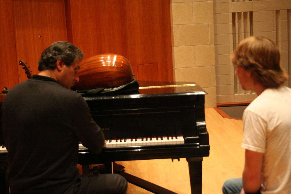 Bucknell Bassam teaching singer.JPG
