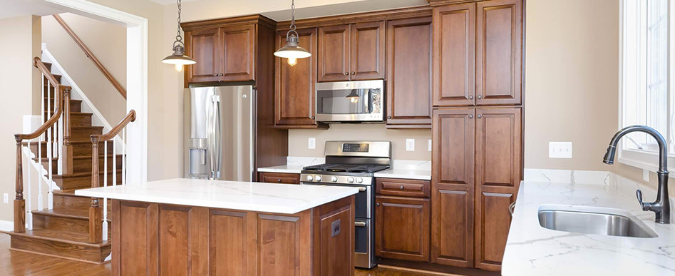 Open Kitchens With Custom Paint and Stain-In-Place Upgraded Hardwood