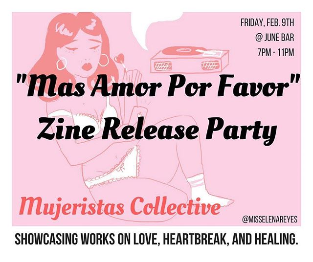 Come through to dance, meet some rad people, & pick up issue 2 of Mujeristas Collective's zine ♥️ (the event is free!)
