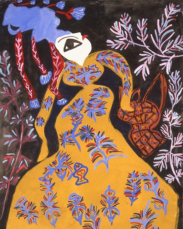 Never forget that Picasso and Monet bit their style from a 16 year-old Algerian artist named Baya Mahieddine.