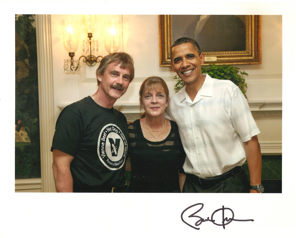 Mike and Ann with President Obama at the White House for the 2010 Taste of the States picnic.