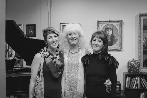 "Vernissage after party of ""Renaissance Women"" exposition at Layton Studios (left to right: Nicole Caouette, Jean Beneduci, Renée Caouette)"