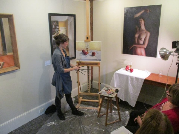 Painting Demo at the South Street Gallery in Hingham MA