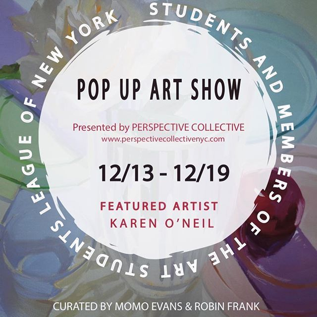 Join us next Thursday, 13 December from 6-8 PM for the opening of a pop up show at 144 10th ave in Chelsea. Featuring artist @karen_oneil_paintings, along with many other talented members and students from The Art Students League (including me 🥳). The show is curated by @momostudio_28 and @robinlfrank and is on view until the 19th.🥂 see you there 🔥#theperspectivecollectivenyc #popupshow #chelsea #holidayshow #reneecaouetteart #nycartist #oilpainting #femaleartist