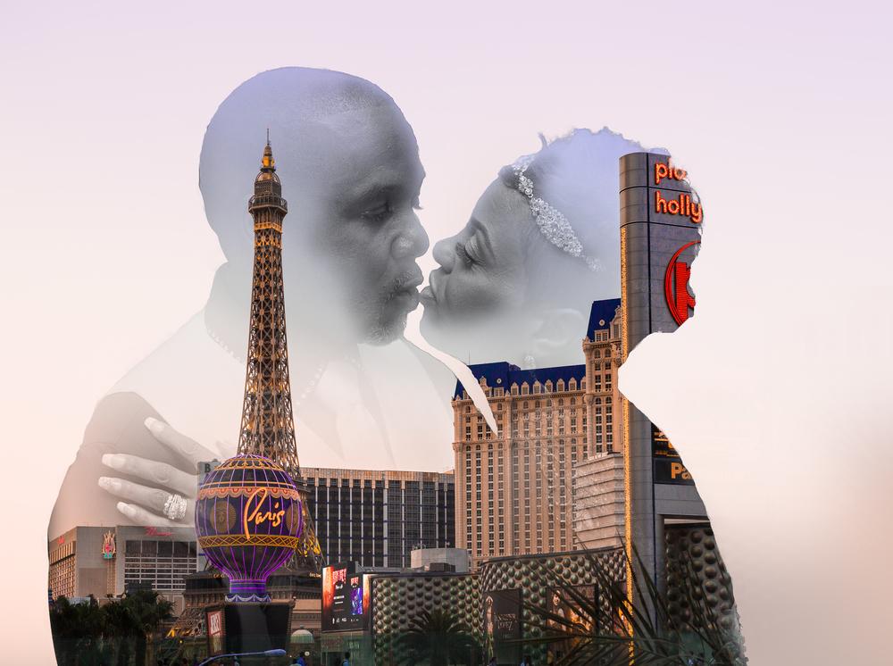 Las Vegas Destination Wedding Double Exposure