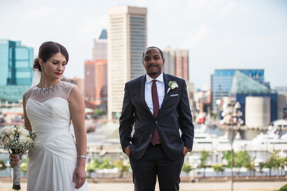Baltimore Federal Hill Wedding Bride and Groom shot by Megapixels Media