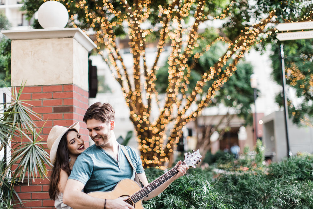 DC National Harbor Engagement Session with Acoustic Guitar by Wedding Photographers Megapixels Media Photography
