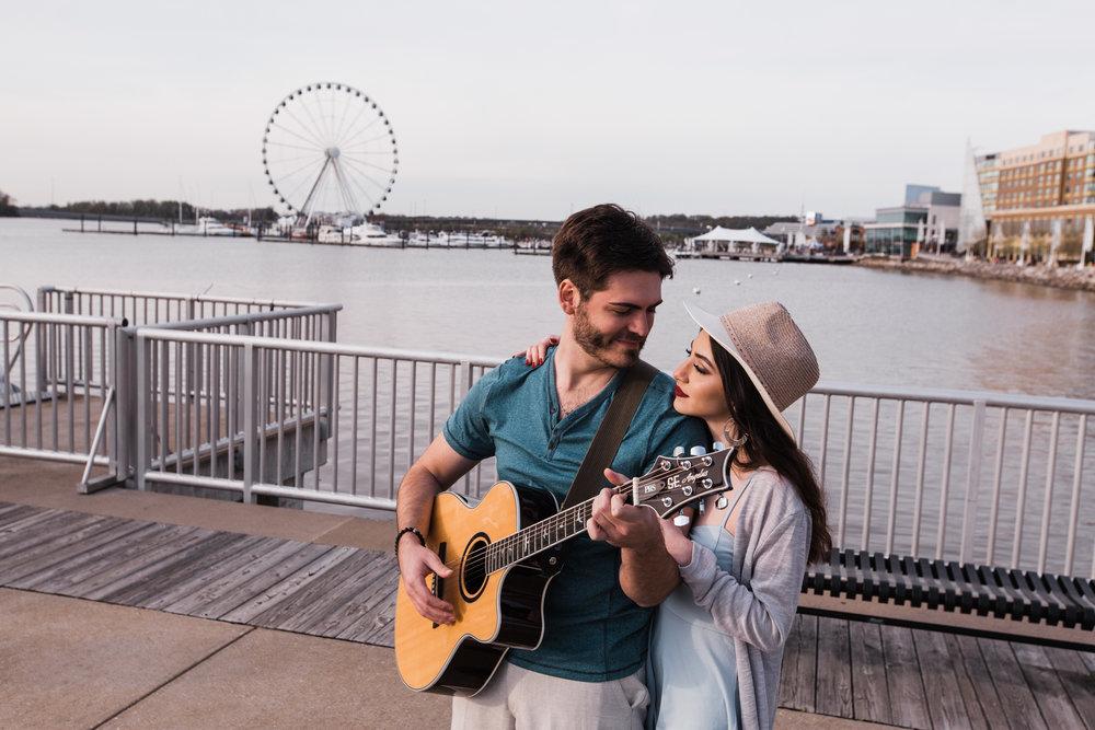Natuonal Harbor Engagement with Guitar DC Photographers Megapixels Media-35.jpg