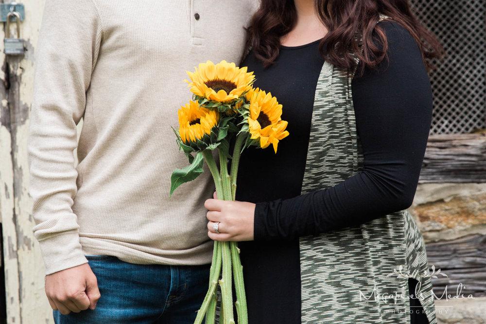 Sunflower Engagement Session at Cromwell Valley Park Baltimore Wedding Photographers Megapixels Media (1 of 31).jpg