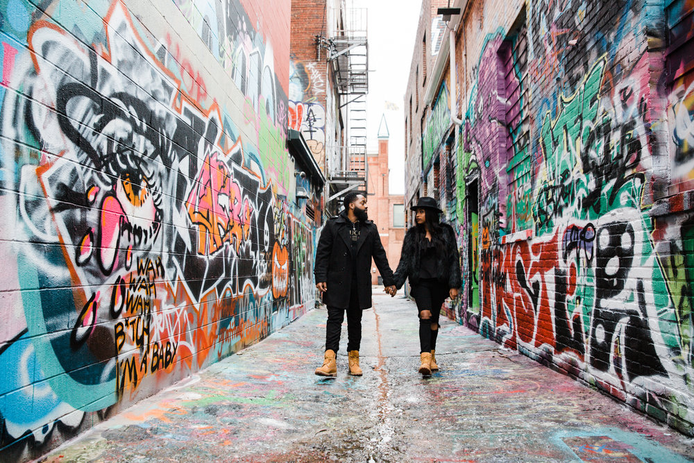 Creative Baltimore Graffiti Alley Engagement Session Megapixels Media Photography-2.jpg