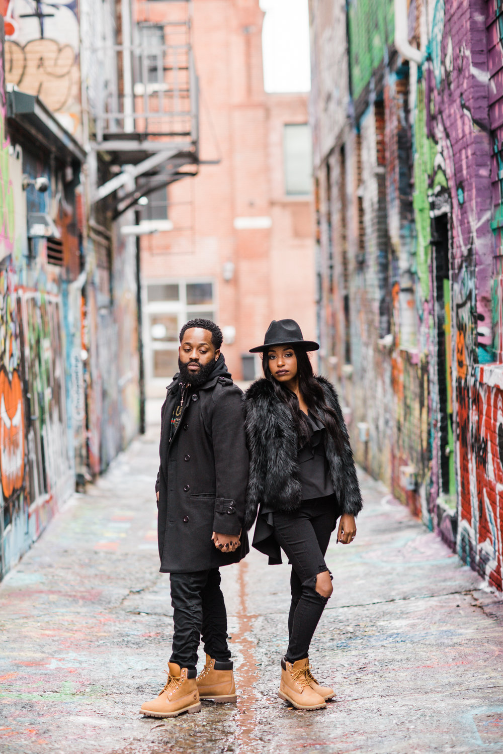 Creative Baltimore Graffiti Alley Engagement Session Megapixels Media Photography-6.jpg