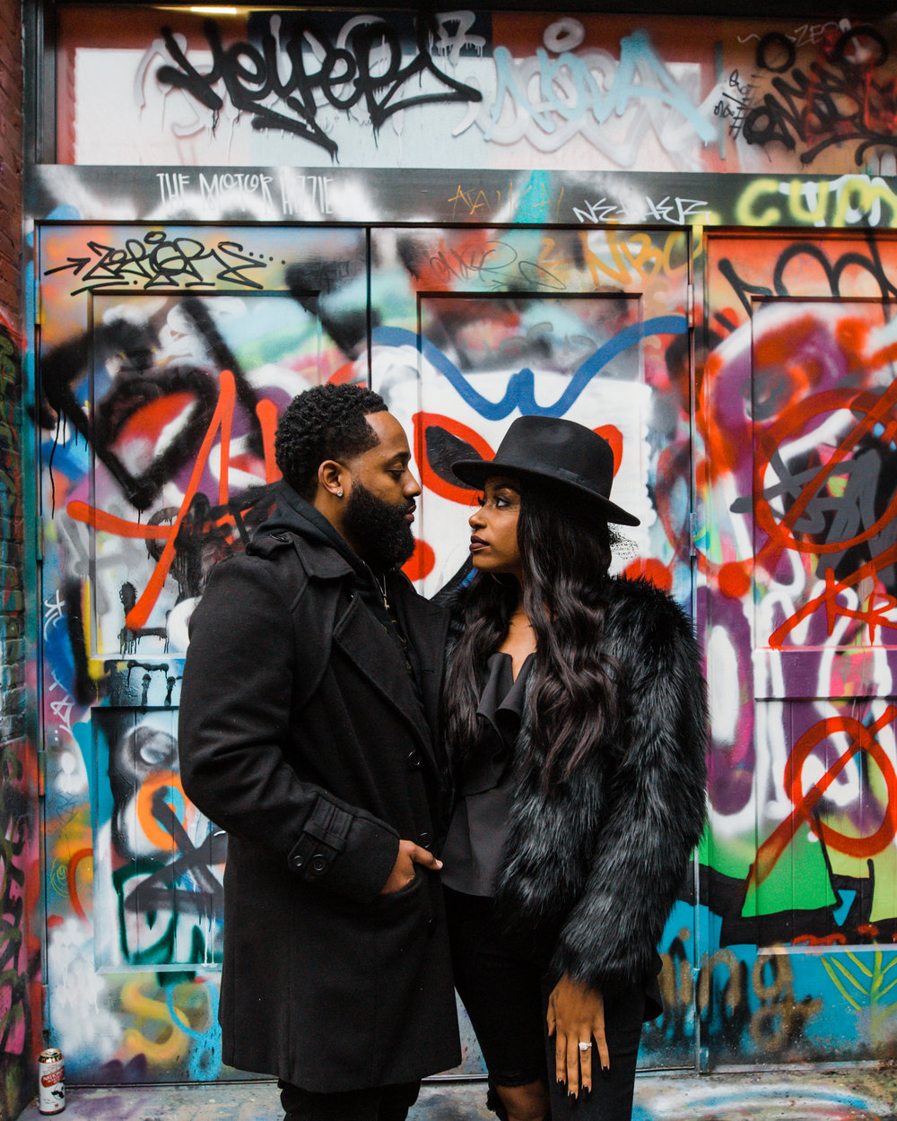 Creative Baltimore Graffiti Alley Engagement Session Megapixels Media Photography-13.jpg