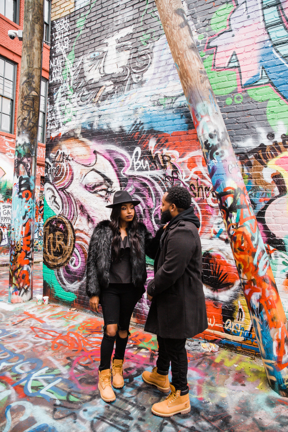 Creative Baltimore Graffiti Alley Engagement Session Megapixels Media Photography-38.jpg