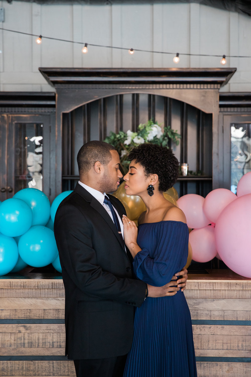 Natural Hair Black Bride in Baltimore Main Street Ballroom Engagement Session by Megapixels Media Photography-3.jpg