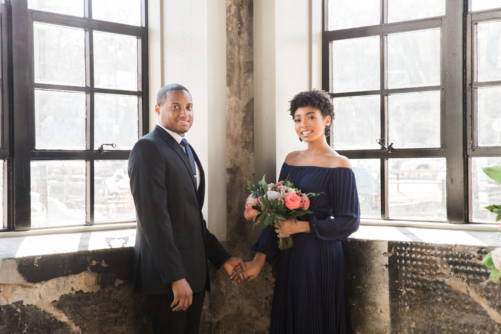 Natural Hair Black Bride in Baltimore Main Street Ballroom Engagement Session by Megapixels Media Photography-9.jpg