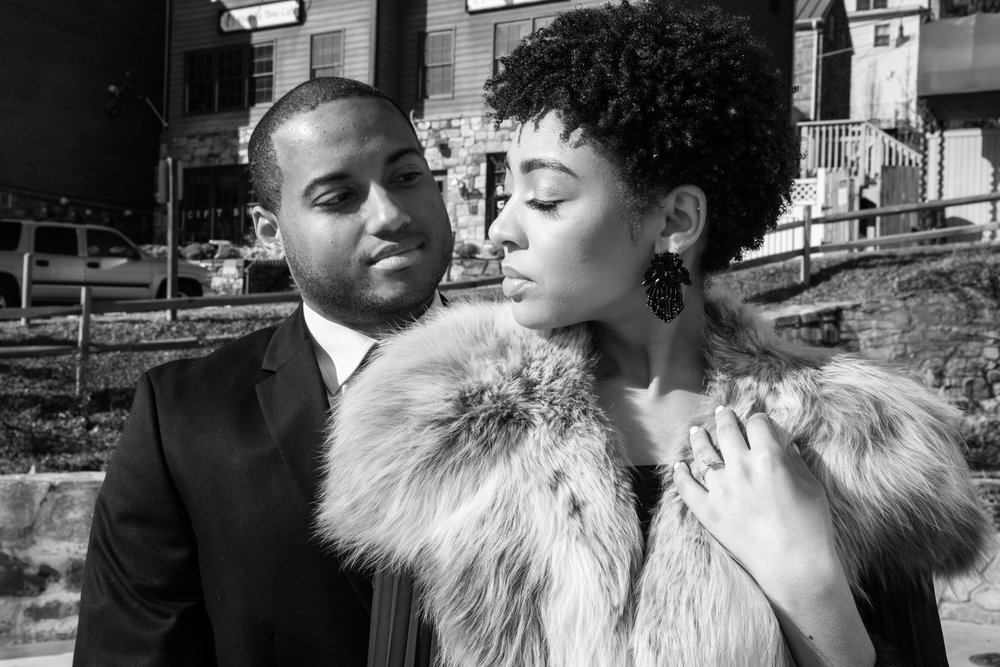Natural Hair Black Bride in Baltimore Main Street Ballroom Engagement Session by Megapixels Media Photography-26.jpg
