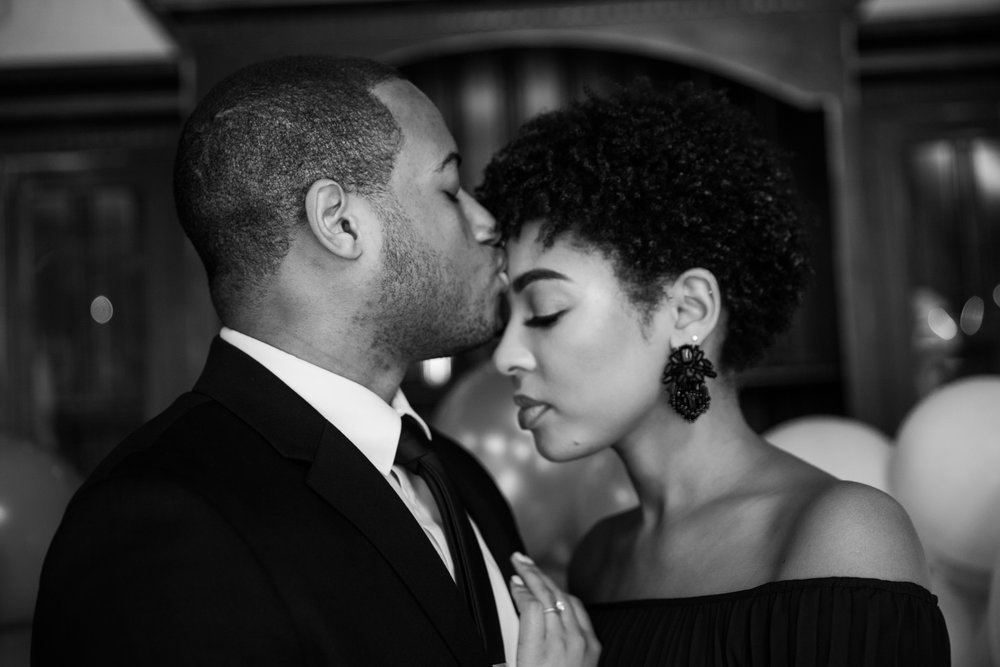 Natural Hair Black Bride in Baltimore Main Street Ballroom Engagement Session by Megapixels Media Photography-27.jpg