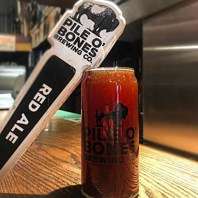 """Our #pintoftheday countdown to Paddy's Day 2019 is almost complete! Today we have the @pileobonesbrews """"Pecan Pie Red"""" Ale on for just $6!. . Check our latest post for details on this weekend. Hope to see you all here!"""