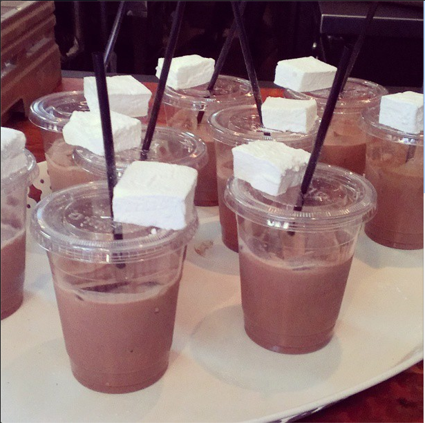 iced chocolate at hot chocolate on food tour chicago Bucktown Wicker Park