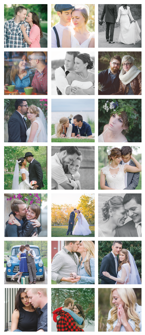 a collage of photos from all of Booth Photographics Sessions from 2013