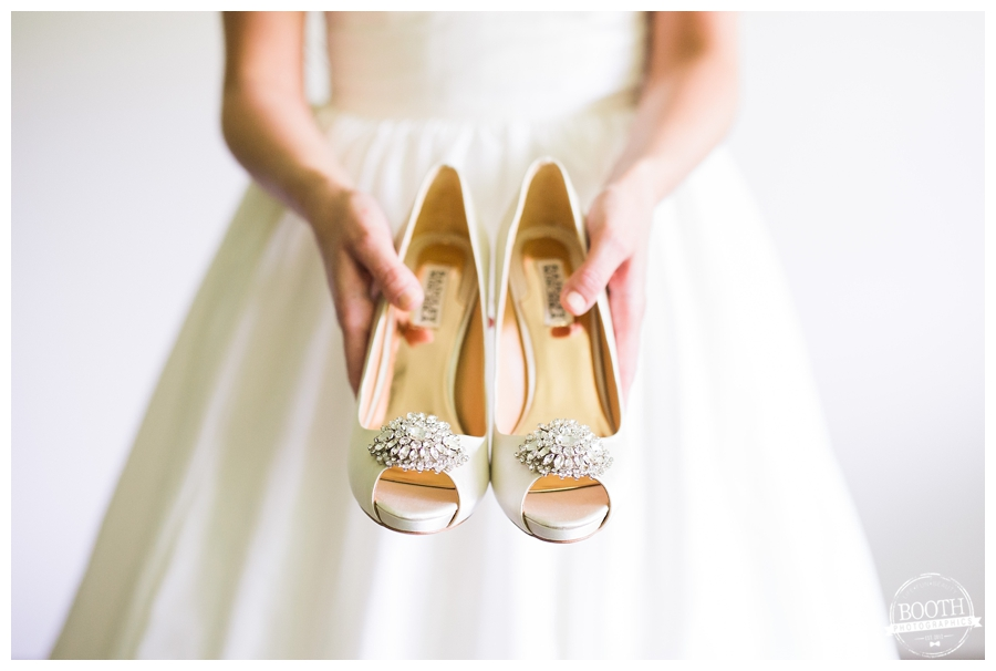 Badgley Mischka bridal wedding shoes