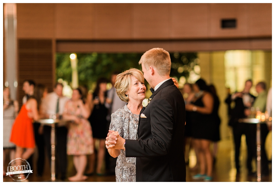 mother and son first dance at a UW Madison Wedding