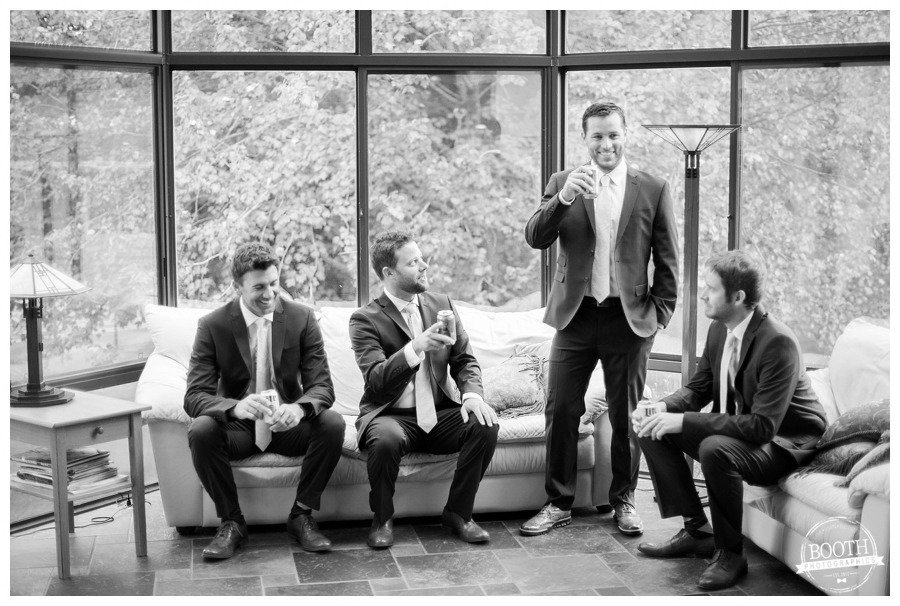 groomsmen getting ready for the wedding