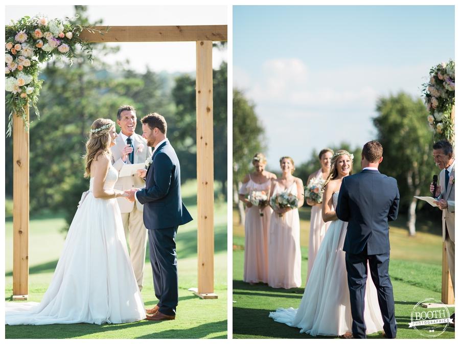 beautiful outdoor Wisconsin wedding ceremony