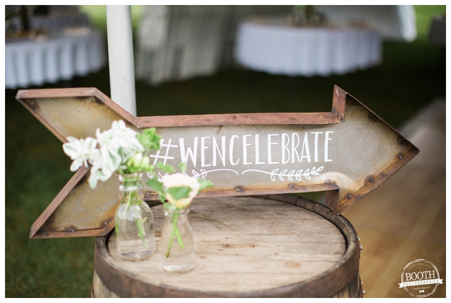 vintage sign with official wedding hashtag