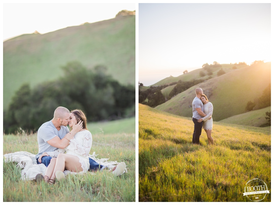 cute engagement photo of a couple on Bolinas Ridge on Mt Tamalpais near San Francisco