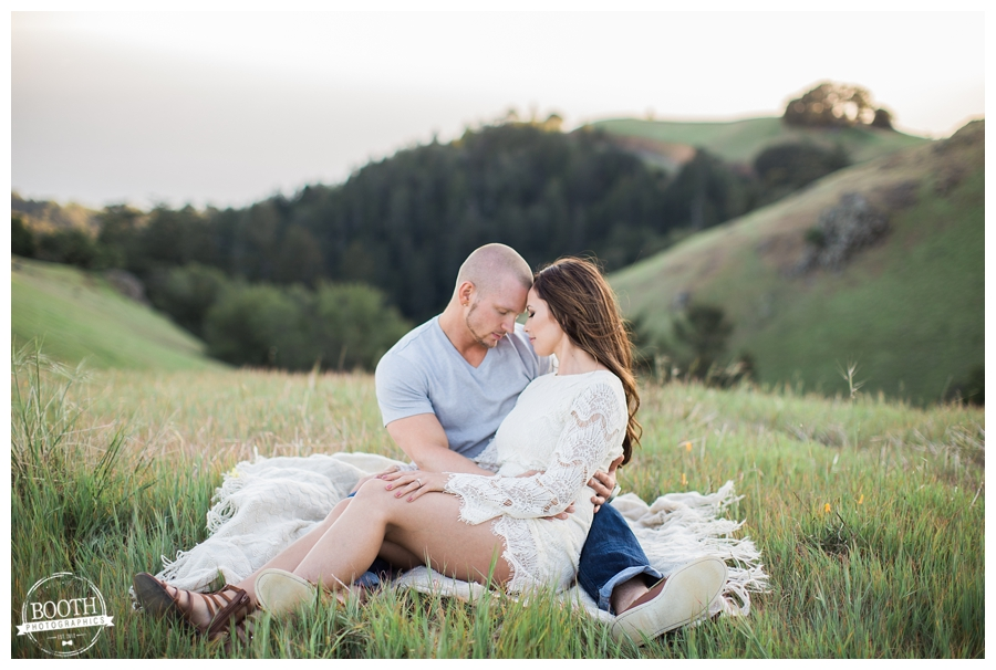 engagement photos of a cute couple at Bolinas Ridge on Mt Tamalpais San Francisco