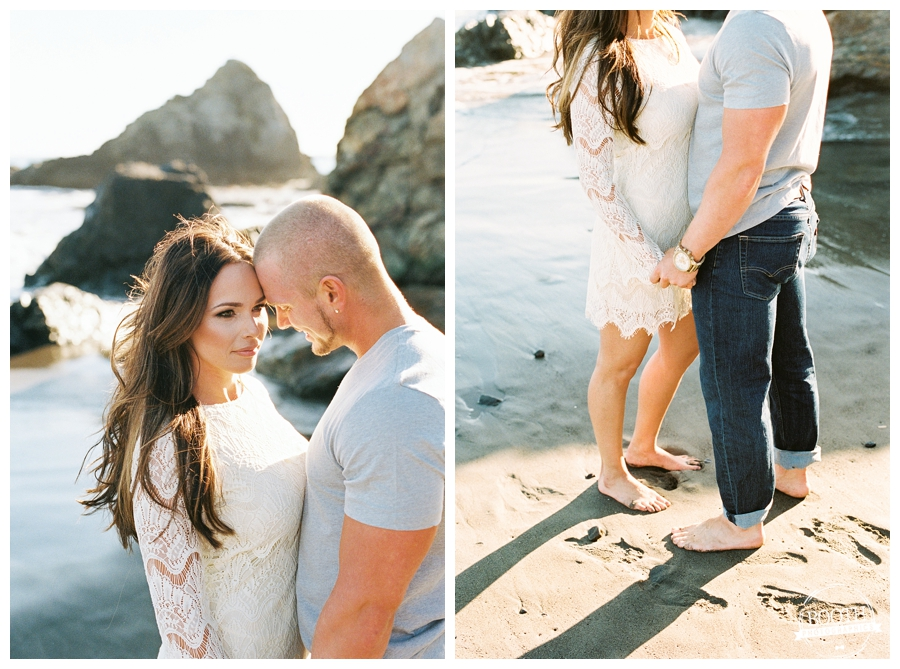 San Francisco Muir Beach engagement session Portra 400