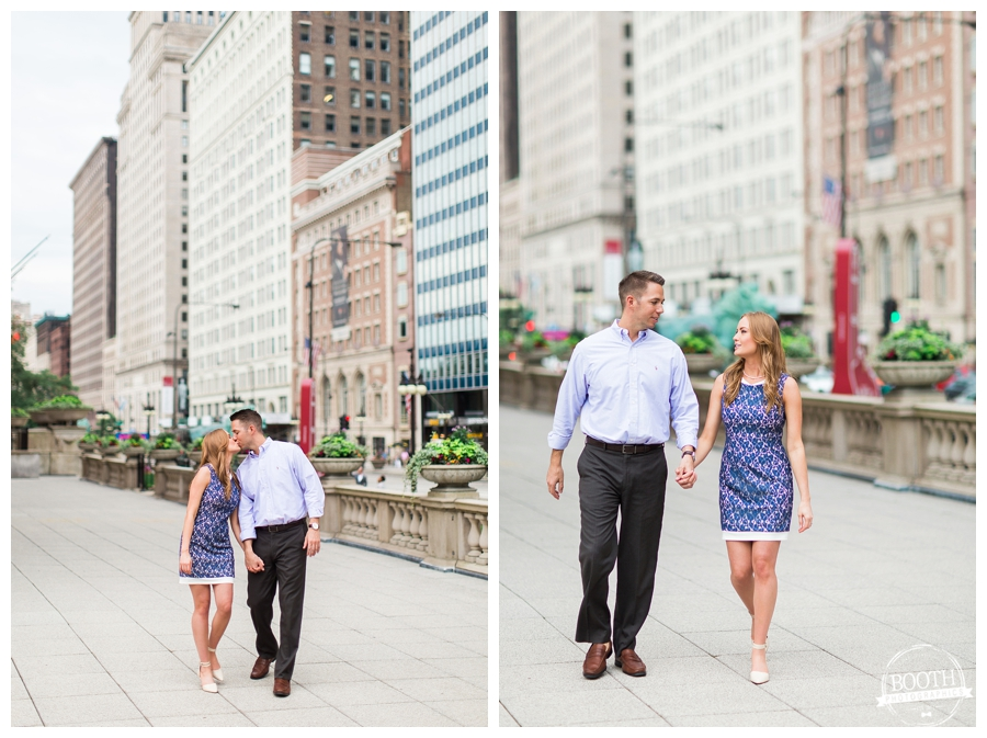 Fine Art engagement photos on Michigan Avenue in Chicago