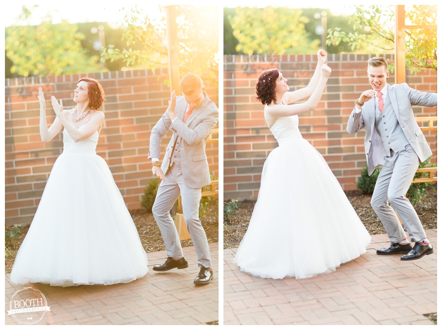 sunset dancing photos at a Naperville wedding