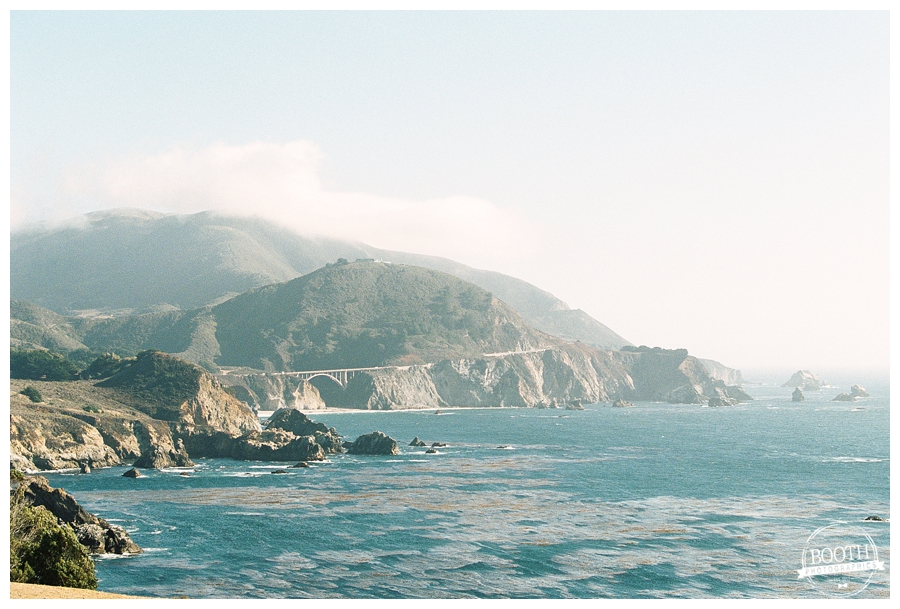 rocky coastline along the Pacific Ocean in Big Sur, California