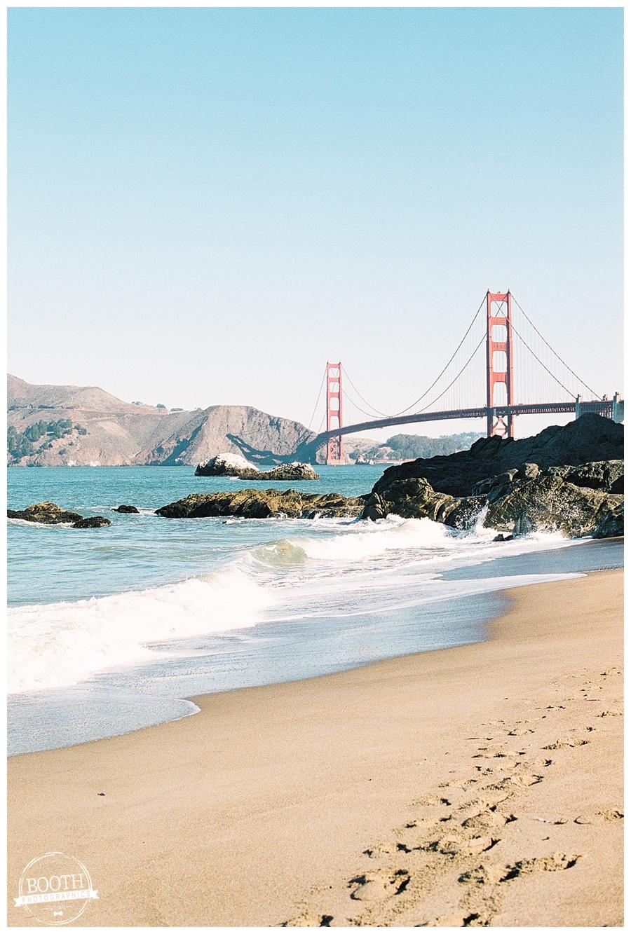 Baker Beach near the Golden Gate Bridge in San Francisco, CA