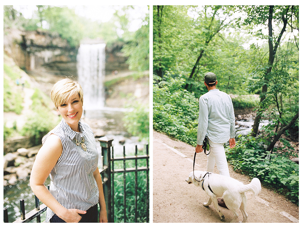Stephanie in front of Minnehaha falls in Minneapolis