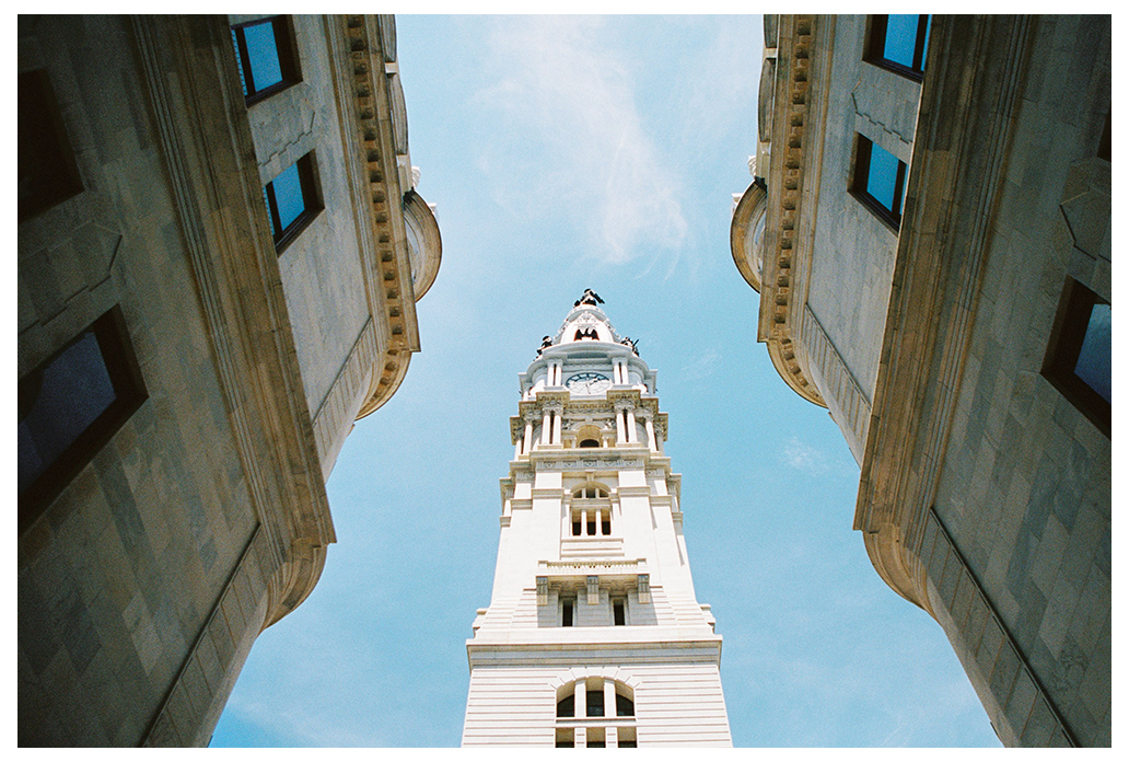 city hall tower in Philadelphia