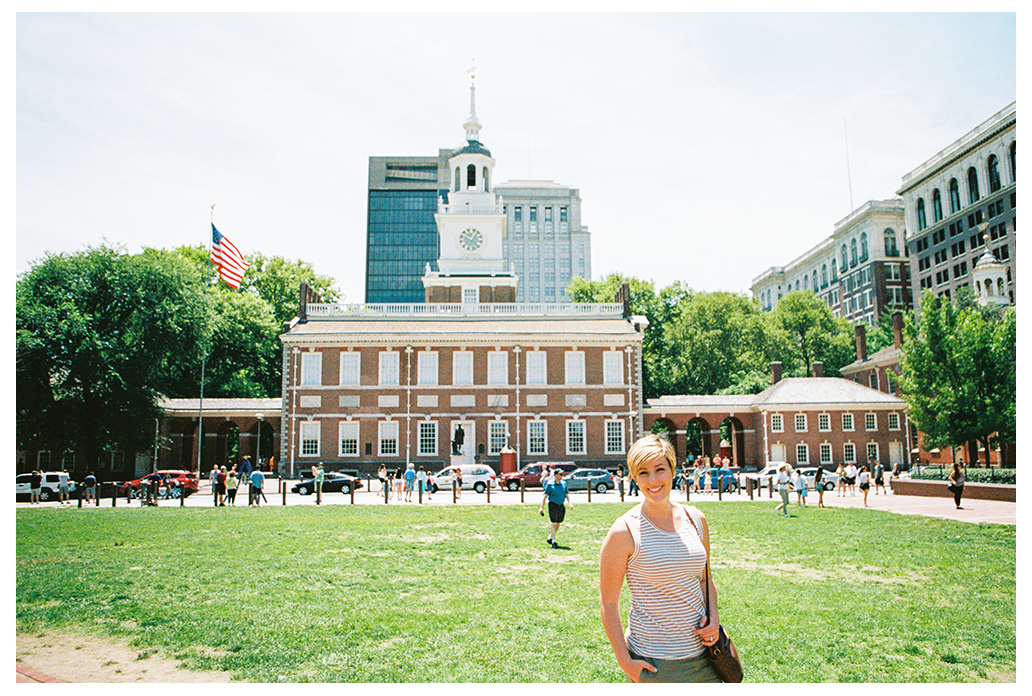 Stephanie at independence hall in Philadelphia