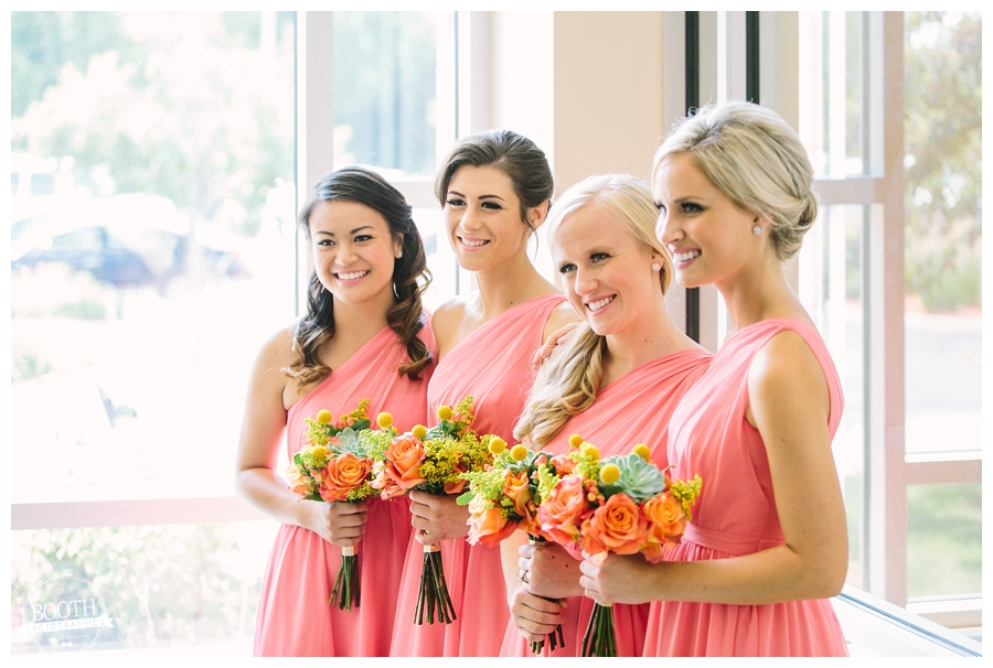 bridesmaids at a milwaukee wedding ceremony