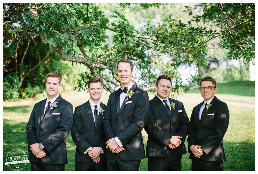 groomsmen at the Legend at Merill Hills country club in waukesha after the wedding