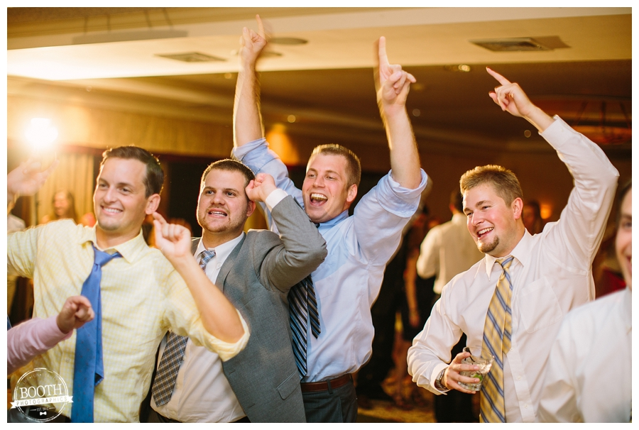 men dancing at a wedding at the Legend at Merrill Hills in Waukesha, WI