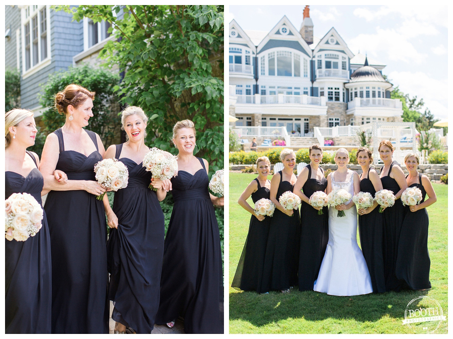 bridesmaids at a Lake Geneva private estate wedding